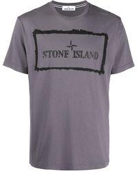 Stone Island Футболка С Логотипом - Серый