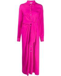 P.A.R.O.S.H. - Платье-рубашка С Завязками На Талии - Lyst