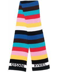 Sonia Rykiel Colour-block Knitted Scarf - Black