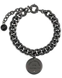 Karl Lagerfeld Rue St Guillaume Medallion Chain Bracelet - Black