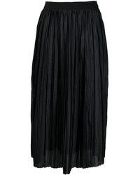 Roberto Collina プリーツ スカート - ブラック