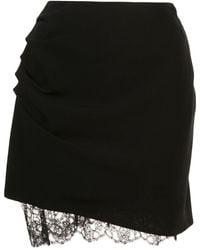 Fleur du Mal Lace Trimmed Mini Skirt - ブラック