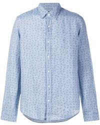 Michael Kors Monogram-print Shirt - Blue