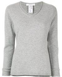 Fabiana Filippi V Neck Sweater - Gray