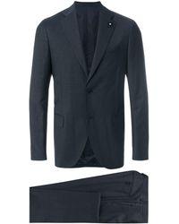 Lardini ツーピース スーツ - ブルー