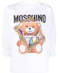 Moschino Sweatshirt mit Print - Weiß