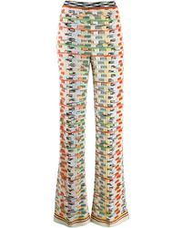 Missoni Pantalones de punto con motivo - Multicolor