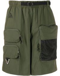 Nike Shorts Met Cargozak - Groen