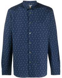 Paul Smith Рубашка С Принтом - Синий