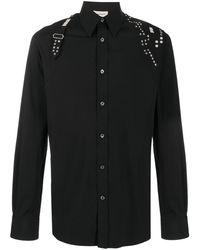 Alexander McQueen Harness Stud-embellished Shirt - Black