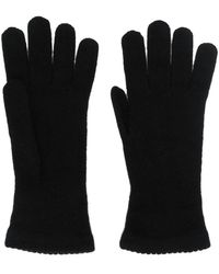 Blanca Vita Cashmere Knitted Gloves - Black