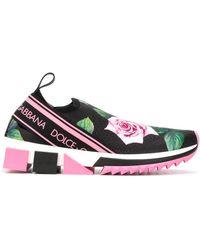 Dolce & Gabbana - Слипоны Sorrento С Принтом Tropical Rose - Lyst