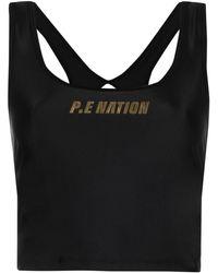 P.E Nation Front Runner プリント タンクトップ - ブラック