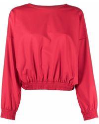 Styland Elasticated-waist Sweatshirt - Red