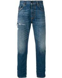 DIESEL Straight Jeans - Blauw