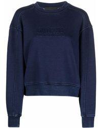 Alberta Ferretti Athleisure Logo-embossed Sweatshirt - ブルー