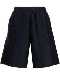 White Mountaineering Parquest Jacquard Bermuda Shorts - Blue