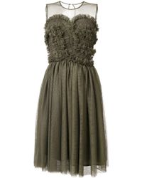 P.A.R.O.S.H. Ruffled Dress - Зеленый