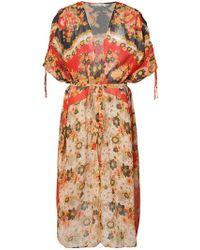 Mes Demoiselles - Long Floral Kimono - Lyst