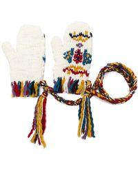 Etro - Tassel Detail Knitted Gloves - Lyst