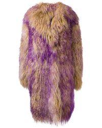 Marni - Oversize Lamb Fur Coat - Lyst