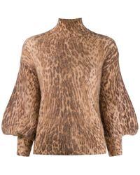 Zimmermann - Pullover mit Leoparden-Print - Lyst