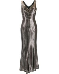 Lauren by Ralph Lauren Aletheo Metallic Gown