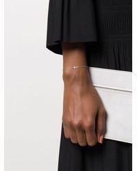 Sydney Evan 14kt White Gold Cross Diamond Charm Bracelet - Metallic