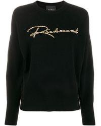 John Richmond スパンコール セーター - ブラック