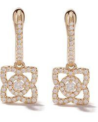 De Beers - 18kt Yellow Gold Enchanted Lotus Diamond Sleeper Earrings - Lyst