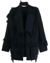 Stella McCartney shaggy-knit Layered Cardigan - Blue