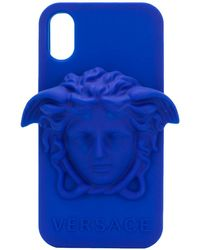Versace Coque d'iPhone X Medusa - Bleu