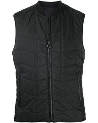 Ferragamo Quilted Zip-up Gilet - Black