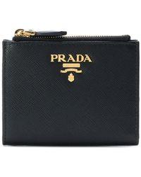 Prada - Logo Mini Zipped Wallet - Lyst
