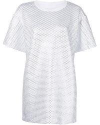 Cynthia Rowley ビジュー Tシャツワンピース - ホワイト