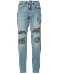 Hysteric Glamour - Tattoo Graphic Print Jeans - Lyst