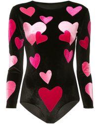 Alexia Hentsch Stretch Love Heart Top - Black
