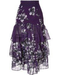 Bambah Bridget Ruffle Skirt - Purple
