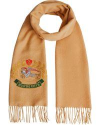 Burberry Sjaal Voor Klassieke Archieflogo - Geel