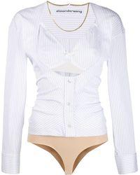 Alexander Wang Striped Shirt Bodie - White