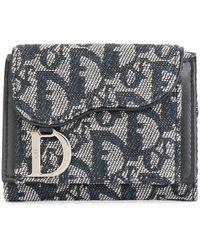 Dior プレオウンド トロッター 三つ折り財布 - ブルー