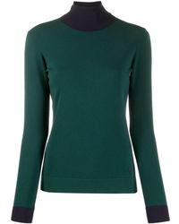 Emporio Armani バイカラー セーター - グリーン