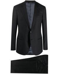 Giorgio Armani スリムフィット シングルスーツ - ブラック