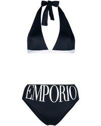 Emporio Armani Logo Two-piece Bikini - Blue