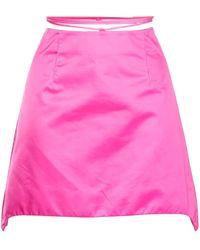 Helmut Lang Wraparound Waist Mini Skirt - Pink