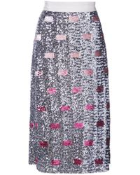 COACH - Embellished Midi Skirt - Lyst