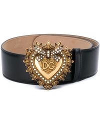Dolce & Gabbana Devotion Riem Met Gesp - Zwart