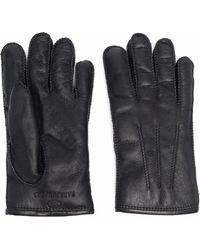 Parajumpers Shearling Embroidered-logo Gloves - Black