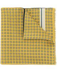 Kent & Curwen Reversible Geometric Print Scarf - Yellow