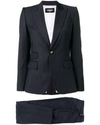 DSquared² Pinstriped Suit - Blue